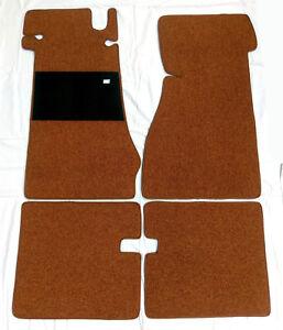 cognac loop floor mats set for Mercedes W113 Pagod 230SL 250SL 280SL carpet