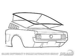1965 1966 Ford Mustang Fastback Rear Glass Gasket Window Seal - Rear Window Seal