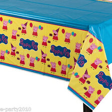PEPPA PIG PLASTIC TABLE COVER ~ Birthday Party Supplies Decorations Cloth Nick