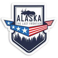 2 x 10cm Alaska Canada Vinyl Stickers - Travel Moose Luggage Sticker #20778