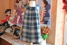 robe cyrillus 3 ans doublee 25% de laine  carreaux