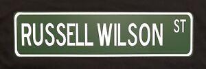"Russell Wilson 24"" x 6"" Aluminum Street Sign Seattle Seahawks NFL Football"