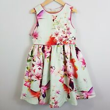 Size 10 TED BAKER Girls Floral Party Dress NEW