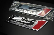CHROME LS1 EMBLEM FITS GM FENDER TRUNK DASH - SICK AND TWISTED - 2pc. SET