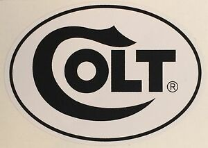 COLT FIREARMS OVAL VINYL LOGO STICKER DECAL *FREE SHIPPING*