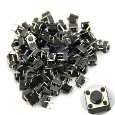 100pcs 6x6x5mm 4pin Tactile Push Button Switch Momentary Tact DIP Through-Hole