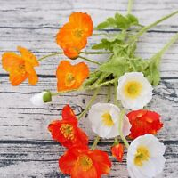 Artificial Flower Wild Poppies Simulation Poppy Bouquet Home Party Wedding Decor