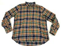 WOOLRICH Multicolor Flannel Plaid Mens Button Down Long Sleeve XLarge