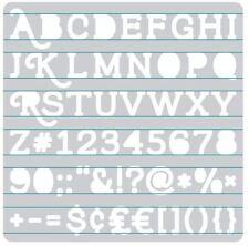 We R Memory Keepers  Accessory ~ HEATWAVE STENCIL ~ SERIF Alphabet ~662662