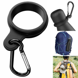 Water Bottle Holder With Carabiner Clip Silicone For Outdoor Camping,Backpack