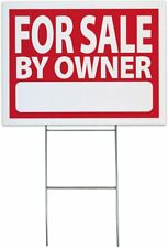 Large (18x24) For Sale by Owner Sign Kit (Includes Stake) - Durable Coroplast