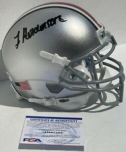 Treveyon Henderson Signed Autographed Ohio State Buckeyes Mini Helmet PSA/DNA
