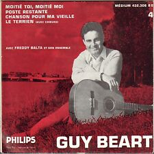 """GUY BEART """"MOITIE TOI, MOITIE MOI"""" 50'S EP PHILIPS 432.306"""