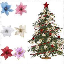New 8Pcs Glitter Tree Hollow Wedding Party Decor Christmas Flower Xmas Ornaments