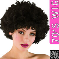 UNISEX BOOGIE 70'S FANCY DRESS WIGS DISCO FEVER COSPLAY COSTUME LADIES WIG PARTY