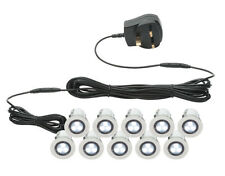 Saxby 41145 Kios IP44 Outdoor Indoor Plinth Lights LED Set of 10mm x 30mm