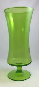 "9¼"" Green Footed Gathering Vase- Decorative Floral Arrangements - Weddings, etc"