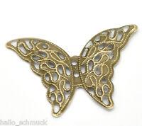 HS 50 Bronze Schmetterling Filigran Verbinder 4.1x2.9cm