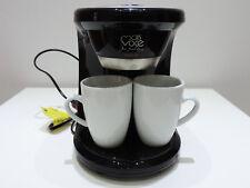 Mini-Kaffeemaschine Reise Single für 2 Tassen für Büro Camping mit Dauerfilter