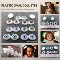 7 PAIR DOLL EYES 5mm Iris  Oval Plastic For Puppet, Troll, Jewelry, Doll (A-1)