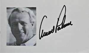 Arnold Palmer autographed index card