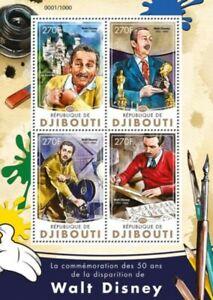 Djibouti 2016 Walt Disney 4 Stamp Sheet Scott #906 DJB16215a