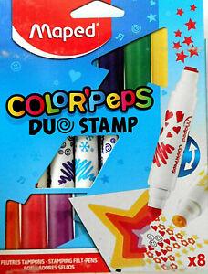 """Filzstifte 2 in 1 Stempelstifte """"Colorpeps Duostamp"""" (8)  auswaschbar"""