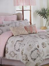 New Raymond Waites PARADISE Tropical Birds Postcard Quilted Coverlet - King