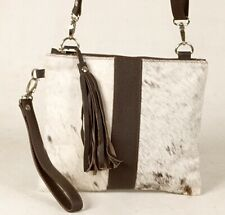 Real Cowhide Cross body Purse Handbag & Hand Clutch  Cow Hide Leather  CC-371