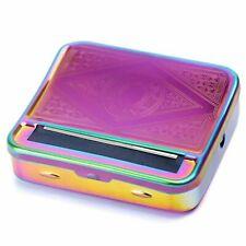 1 NEW Cigarette Roller Rolling Machine Tin Box UK SELLER Tobacco RAINBOW Colour