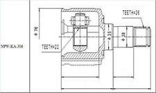 INNENGELENK GELENKSATZ KIA SEPHIA 1.5, SHUMA 1.5, 1.6 MTM 1997-2004 /LINKS-NEU