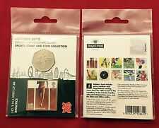 Lot of 2 Royal Mail London 2012 Olympic Coin Stamp Collection # 1 Athletics JP18