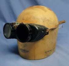 Vintage Steampunk Motorcycle Welding Goggles Safety Glasses w/Sideguards