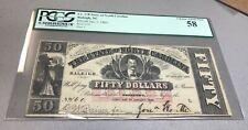 Raleigh ,  state of North Carolina  , 1863  $50  , PCGS  AU58