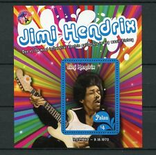 Palau 2016 MNH Jimi Hendrix 1v S/S Rock Stars Celebrities Stamps