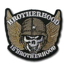 Brotherhood Skull Wing Harley Chopper Biker Rider Motorcycle Vest Patch Iron on