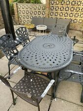 metal table and chairs garden