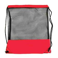 Mesh Travel Bag Black and Red