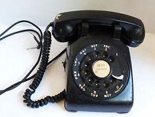 VTG old Western Electric Black rotary diak phone desl top telephone