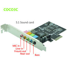 NEW PCI Express x1 5.1 PC Sound Card 6 Channel Surround 3D Audio Card windows7/8