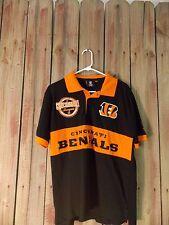 NFL Cincinnati Bengals Shirt 1968 American Football Conference Sz L Black/Orange