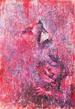 Shai-Yossef-large-oil-painting pink,girl, animals, salvation original art