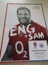 England v Samoa programme 22.11.14