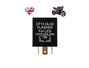 Triumph Bike INDICATOR TURN SIGNAL CF13 GL-02 FLASHER FOR LED 12V 0.02A-20A 3PIN