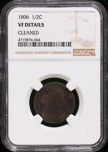 """1806 Half Cent - NGC VF Details """" Cleaned"""""""