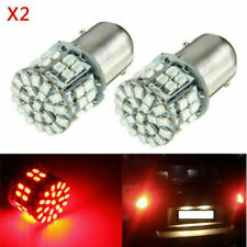 2x Red 1156 BA15S 50 SMD 1206 LED Car Tail Brake Turn Signal Backup Light Bulbs