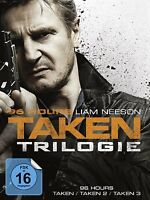 96 HOURS-TAKEN 1-3 3 DVD NEU