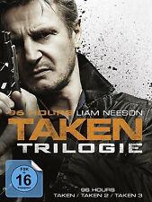 96 HOURS-TAKEN 1-3 3 DVD NEU
