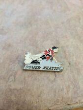 """1980's Youth Hockey Enamel Collectors Pin """"Power Skating"""""""