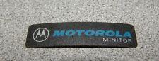 Motorola Minitor Label Logo Sticker Name Plate (Grey)